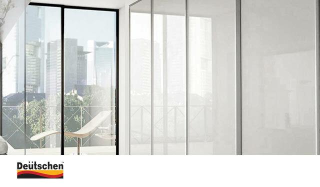 [도이첸]네오 하이글로시 슬라이딩붙박이장 30cm